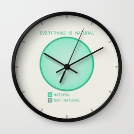 Everything is Natural Wall Clock