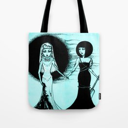 Cool Monochrome Girls: Two Goddess Tote Bag