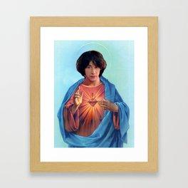Saint Ted Theodore Logan Framed Art Print