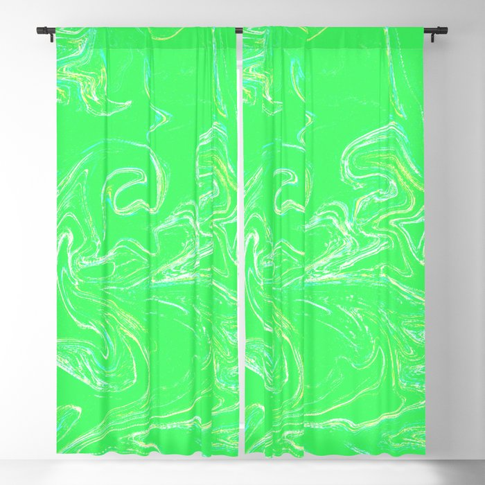 Neon Green Abstract Blackout Curtain By Seekforkeeps