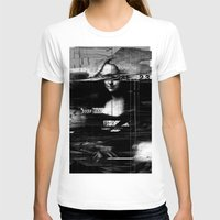 glitch T-shirts featuring Mona Lisa Glitch by nicebleed