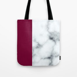Berry Marble Tote Bag