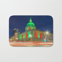 San Francisco City Hall Holiday Light Bath Mat