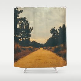 Vintage Faded Dusty Country Dirt Road Shower Curtain