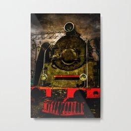 Vintage Steam Engine Locomotive - Heavy-Duty Metal Print