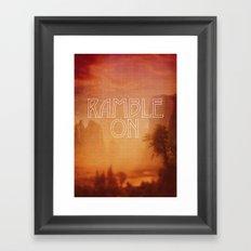 Ramble On Framed Art Print