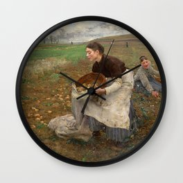 October by Jules Bastien-LePage Wall Clock