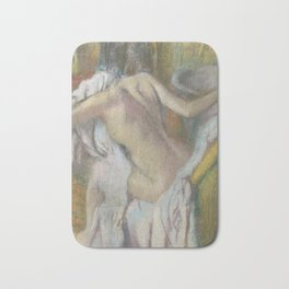 After the Bath, Woman drying herself Bath Mat