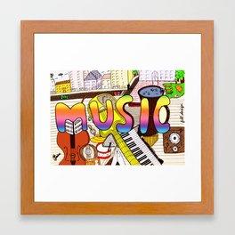 Colors of Music Framed Art Print