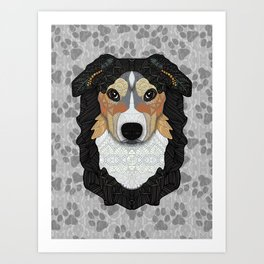 Zeke - mountain dog Art Print