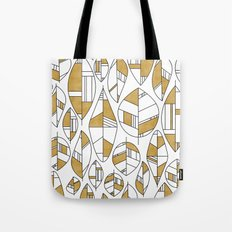 MCM Autumn Leaves Gold Tote Bag