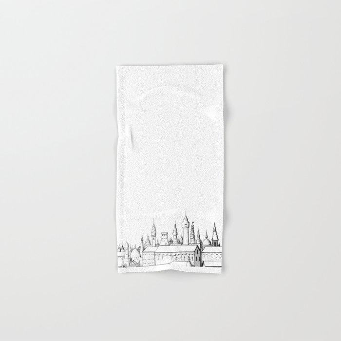 fabulous city . art . black and white Hand & Bath Towel