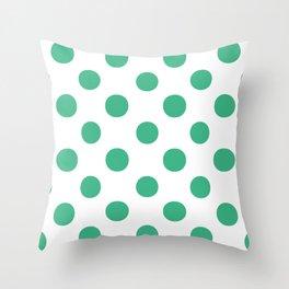 Polka Dots (Mint/White) Throw Pillow