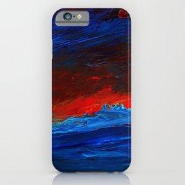 Crimson Sky Seascape iPhone Case