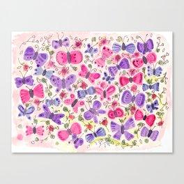 Happy Butterflies Canvas Print
