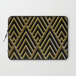 Art Deco 3-D Luxurious Gold and Black Pattern Laptop Sleeve