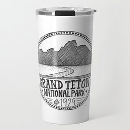 Grand Teton National Park Illustration Travel Mug