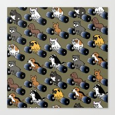 5 plates deadlift Puppies Canvas Print