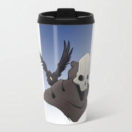 The Skull and the Raven Metal Travel Mug