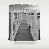 bridge Shower Curtains featuring Bridge by Matt Callaghan