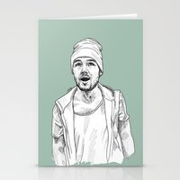 liam payne Stationery Cards featuring Liam Payne  by Cécile Pellerin