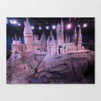hogwarts Canvas Prints featuring Hogwarts by Samantha Van Prooyen