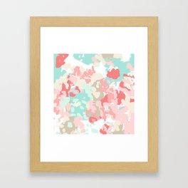 Florence - abstract trendy colors gender neutral seaside coral tropical minimal mermaids Framed Art Print