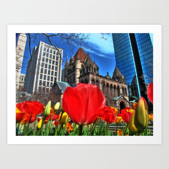 Boston in Bloom Art Print