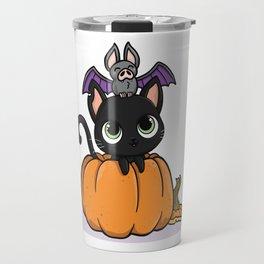 Cute Halloween Illustration Travel Mug