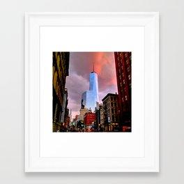 Freedom Tower in New York Framed Art Print