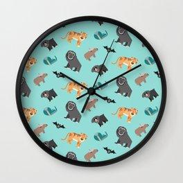 Jungle animals wilderness pattern tropics tropical Wall Clock
