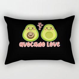 Avocado Family Love Papa Mama Baby avogato Rectangular Pillow