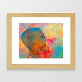 Drifting Into The Colors Framed Art Print
