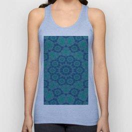 Jade , Aqua and Turquoise Symmetrical Pattern Unisex Tank Top