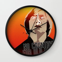 No Country For Old Man Poster Wall Clock
