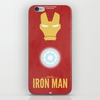 iron man iPhone & iPod Skins featuring Iron Man by Steal This Art