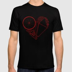 Love Bike Black LARGE Mens Fitted Tee