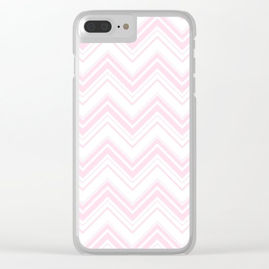 Chevron Zig Zag pattern pink on white on #Society6 Clear iPhone Case
