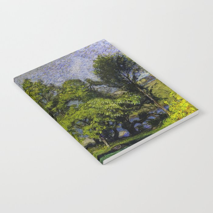 Chestnut Trees above a River Notebook
