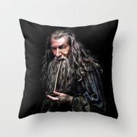 gandalf Throw Pillows featuring Gandalf  by DavinciArt