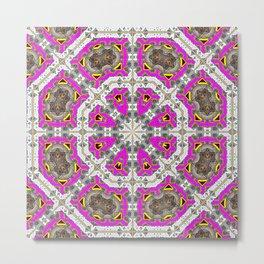 Pink Octagons* Metal Print