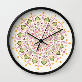 Bindi Mandala Wall Clock