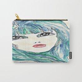 Aqua Portrait Carry-All Pouch
