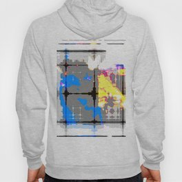 glitch abstract Hoody