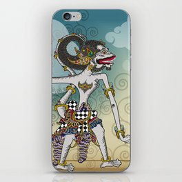 Modification of the puppet characters Hanuman white monkey in the story of the Ramayana iPhone Skin
