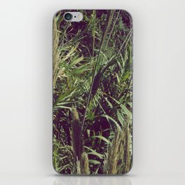Into the fields plants green wet vintage iPhone Skin
