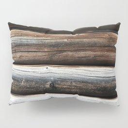 Detail: Loghouse Pillow Sham