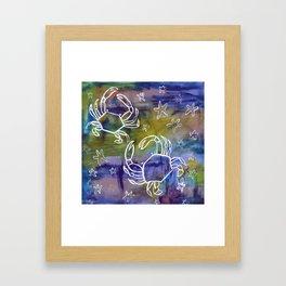 Blue Crab Kind of Day Framed Art Print