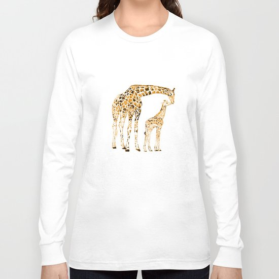 family girrafes, watercolor Long Sleeve T-shirt