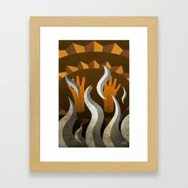The New Old Waves - (ASL Marquetry Series) Framed Art Print